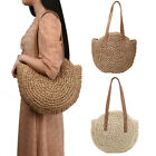 Women Girls Rattan Straw Bag Woven Round Handbag Crossbody Beach Casual Gift