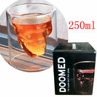 Whiskey Glass Cup with Cigar Holder Square Mug for Men Women Club Wine Beer Cup