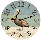 Pelican Beach Clock- Beach Themed Clock