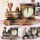 Retro Train Engine Alarm Clock Analogue Room Home Bedside Table Desk Decor Gifts