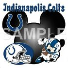 Disney Indianapolis Colts personalized iron on transfer (choice of 1) $3.25 USD on eBay