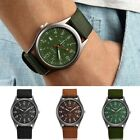 Men's Watch Wristwatch Sport Military Analog Army Quartz Canvas Strap Mens Gift image