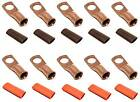 UL Copper Cable Lug Ends Terminal Ring Connectors + Adhesive Heat Shrink Tubing