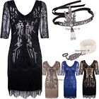 Roaring 20's Dresses For Women Plus Size Women's 1920s Flapper Dress V Neck Bead