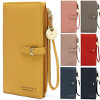 Ladies Womens Wallet Long Zip Purse Card Phone Holder Clutch Handbag with Strap image