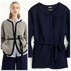 NWT 148 J.CREW Sizes XS - L Wrap Jacket in Boiled Wool GRAY or NAVY Style H5856