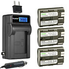 Kastar Battery LCD AC Charger for BP-511 BP-511A & Canon DM-MV150 MV150 MV150i