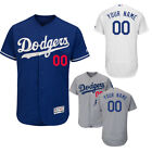 New Men's Los Angeles Dodgers Flex Base White/Gray/Blue Custom Jersey on Ebay