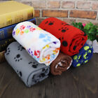 Cute Paw Print Large Pet Blanket Soft Baby Dog Cat Warm Blankets for Car Fleece