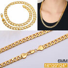 18k Long Chain Jewelry Necklace Solid Gold-plated Men's Gold Gift Link
