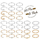 32Pcs 20G Surgical Steel Nose Rings Hoop Tragus Cartilage Helix Ring Piercing image