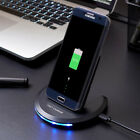 US 10W Fast Qi Induction Wireless Charger Stand Pad Mat For Samsung Note 10 9 8