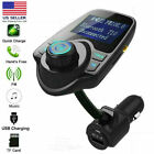 Wireless Bluetooth FM Transmitter In-Car MP3 Radio Adapter Car Kit 2 USB Charger