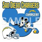 Disney San Diego Chargers personalized iron on transfer (choice of 1) $3.25 USD on eBay