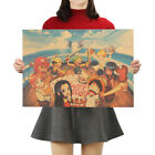 Anime One Piece Collection Posters Kraft Paper Cafe Decor Wall Painting Picture