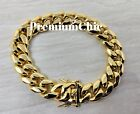 Kyпить Mens Miami Cuban Link Bracelet 14k or 18K Gold Plated Stainless Steel Hip Hop на еВаy.соm