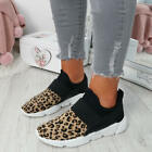 WOMENS LADIES SLIP ON MESH TRAINERS SPORTS SNEAKERS RUNNING SHOES COMFY SIZE UK
