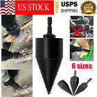 Kyпить High Speed Twist Firewood Drill Bit Wood Splitter Screw Splitting Cone Driver  на еВаy.соm
