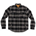 DC NEW Men's Landfilled Long Sleeve Overshirt - Pewter BNWT
