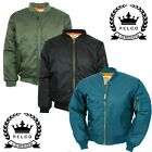 Relco Classic MA-1 Flight Jacket Bomber Pilot Military Army Olive Black Blue