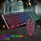Wired Gaming Keyboard & Mouse Set RGB Backlit for PS4 PS3 XBOX ONE 360 Gaming