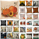 Halloween Happy Pillow Cases Fall Sofa Pumpkin Throw Cushion Cover Home Decor CA image