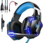 3.5mm Gaming Headset LED Headphones Stereo Surround for PS3 PS4 Xbox one X 360 K