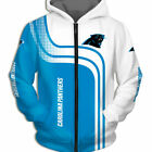 Carolina Panthers Hoodies Zip Hoodie 3D Hooded Sweatshirt Jacket NEW DESIGN $46.99 USD on eBay
