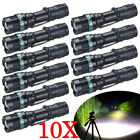Lot 90000 Lumens Tactical T6 LED Zoomable 18650 Flashlight Torch Light Aluminum