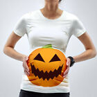 Pregnant Maternity Women Halloween Pumpkin Blouse T-shirt Pregnancy Tops Plus US
