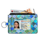 Unisex Slim Coin Purse Wallet Card Holder RFID Blocking Change Pouch w/Key Chain image