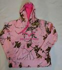 NWT Women's Realtree Logo Hoodie PINK Camo Front Pocket NEW Free Shipping