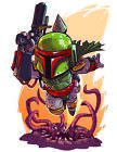 "Star Wars - Boba Fett 2""-6"" Vinyl Decal Stickers $3.99 USD on eBay"