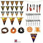 Halloween Bunting Garden Party Banner Hanging Home Decoration Foil Paper Garland