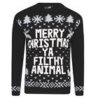 Mens Christmas Xmas Extra Thick Jumper Knitted Retro Sweater Knitted Retro