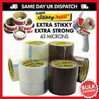 Packing Parcel Tape Dispenser Box Packaging Brown Clear Fragile Printed 72 Rolls