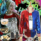 Suicide Squad Harley Quinn Suit Halloween Cosplay Costume Outfits Fancy Dress