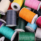 165m/Roll 1/1.5mm Waxed Polyester Cord Wire Beading Macrame String Jewelry DIY