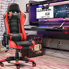 Recline Racing Gaming Chair Ergonomic Computer Office Chair Rocking 360 Swivel