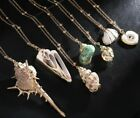 Shell Pendant Gold Chain Necklace Women Jewelry Gold Color Long Pendant Seashell