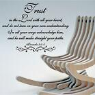 Wall Decal. Inspirational. Bible Scripture. Proverbs 3 Trust in the Lord