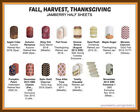 jamberry half sheets fall 🍁? harvest🦃?? thanksgiving buy 3 & 1 FREE! New 11/15! $6.95 USD on eBay