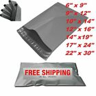 Strong Grey Polythene Poly Postage Postal Post Mailing Bags Quality Self Seal