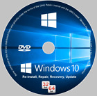 Windows 10 32/64-bit All Versions Install Reinstall Recovery DVD Disc or USB