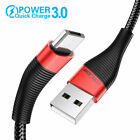 3A Bradied Fast Charging Type C Cable Micro USB Cell Phone Charge Cord Universal
