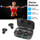 waterproof ipx7 bluetooth headphone tws true wireless earbuds touch control us