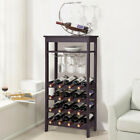 Wine Rack Free Standing Wine Holder Display Shelves With Glass Holder Rack