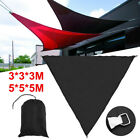 3/5m Sun Shade Sail Waterproof Triangle Outdoor Patio Garden Awning Canopy Cover