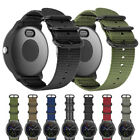 Military Woven Nylon Watch Band Strap with Metal Buckle For Garmin Vivoactive 3 image