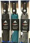 "ADIDAS Sport COMPACT Umbrella AUTOMATIC OPEN CLOSE Nanoskin 46"" Black-Gray-Teal"